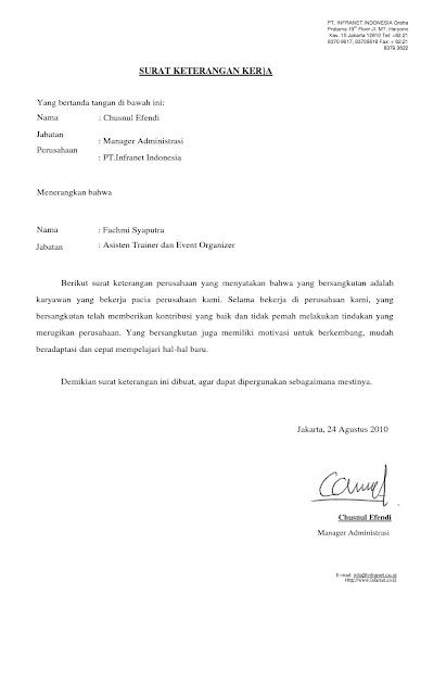 Cara Membuat Surat Pernyataan Kerja Dan Sehat Terbaru