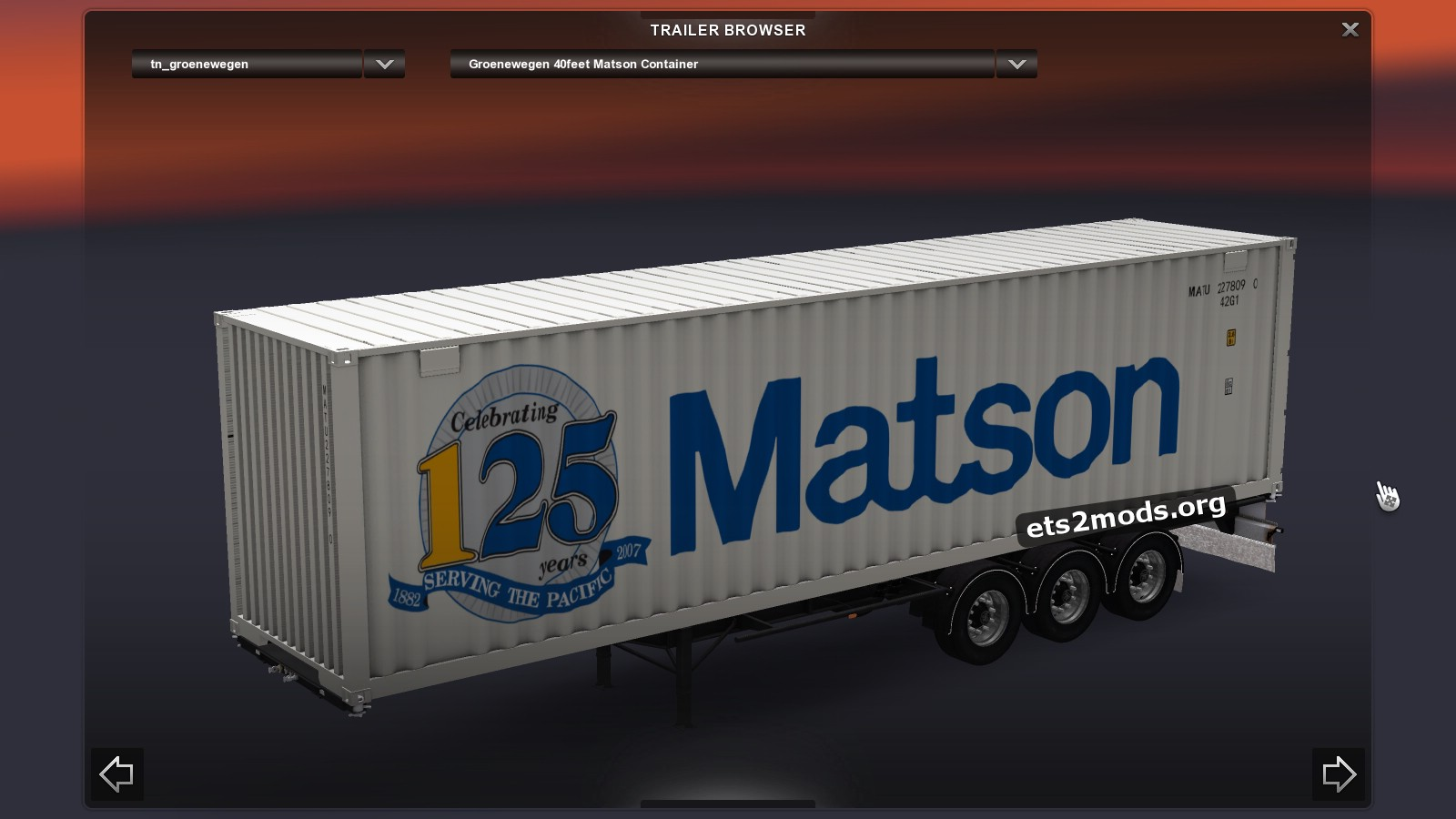 Sommer maersk groenewegen matson container pack ets2 mods - Matson container homes ...