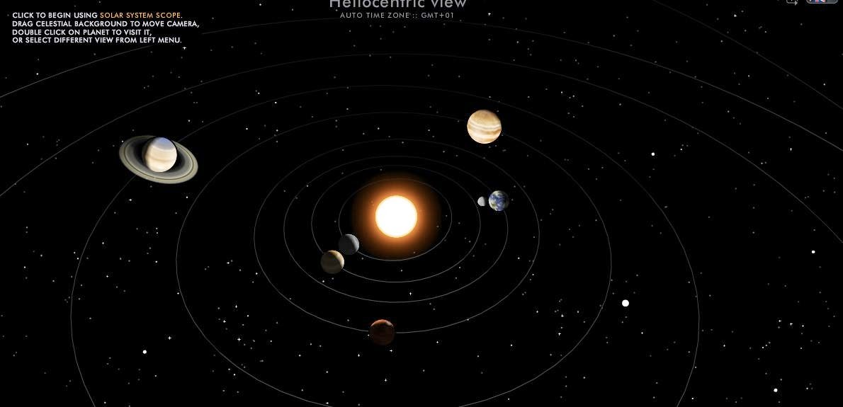 Solar System Simulation and Map of the sky - Fair Science