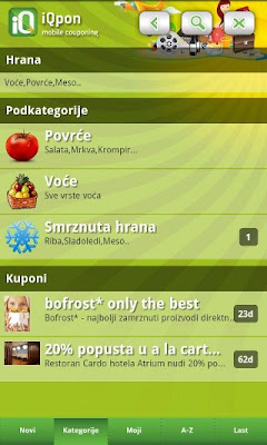 Download iQpon za Android mobitele