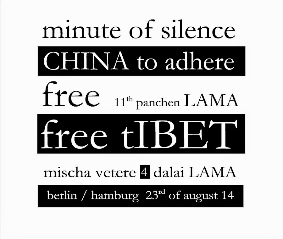 dalai LAMA 11th panchen lama CHINA free tIBET mischa vetere THE MENTAL REVOLUTION THE HOPE CYCLE