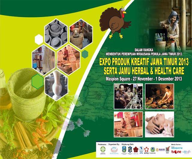 Expo Produk Kreatif Jatim Serta Jamu Herbal dan Health Care 2013