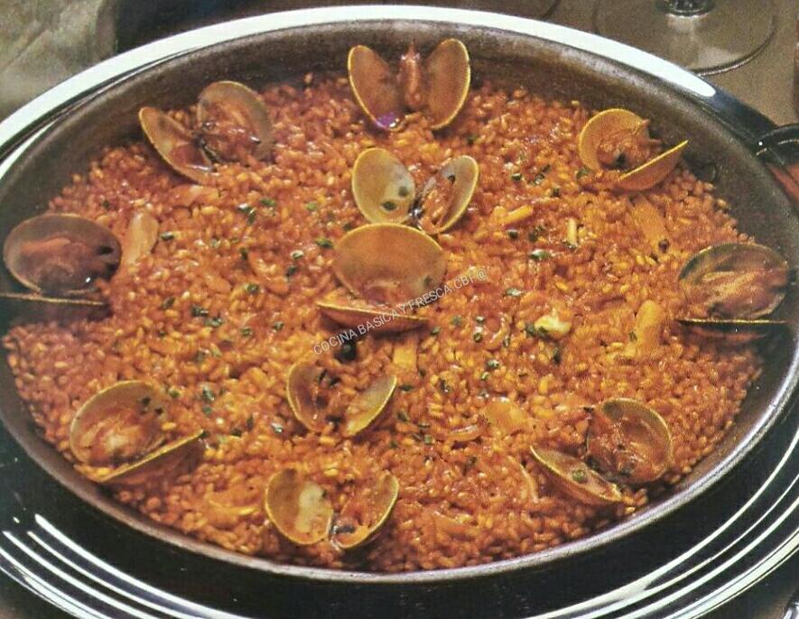 Cocina basica y fresca arroz con almejas y gambas cbf - Arroz con gambas y almejas ...