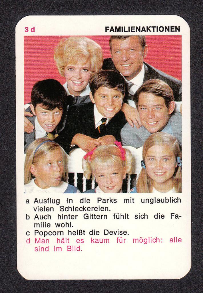The Brady Bunch Blog: More Brady Bunch German Game Cards 1971