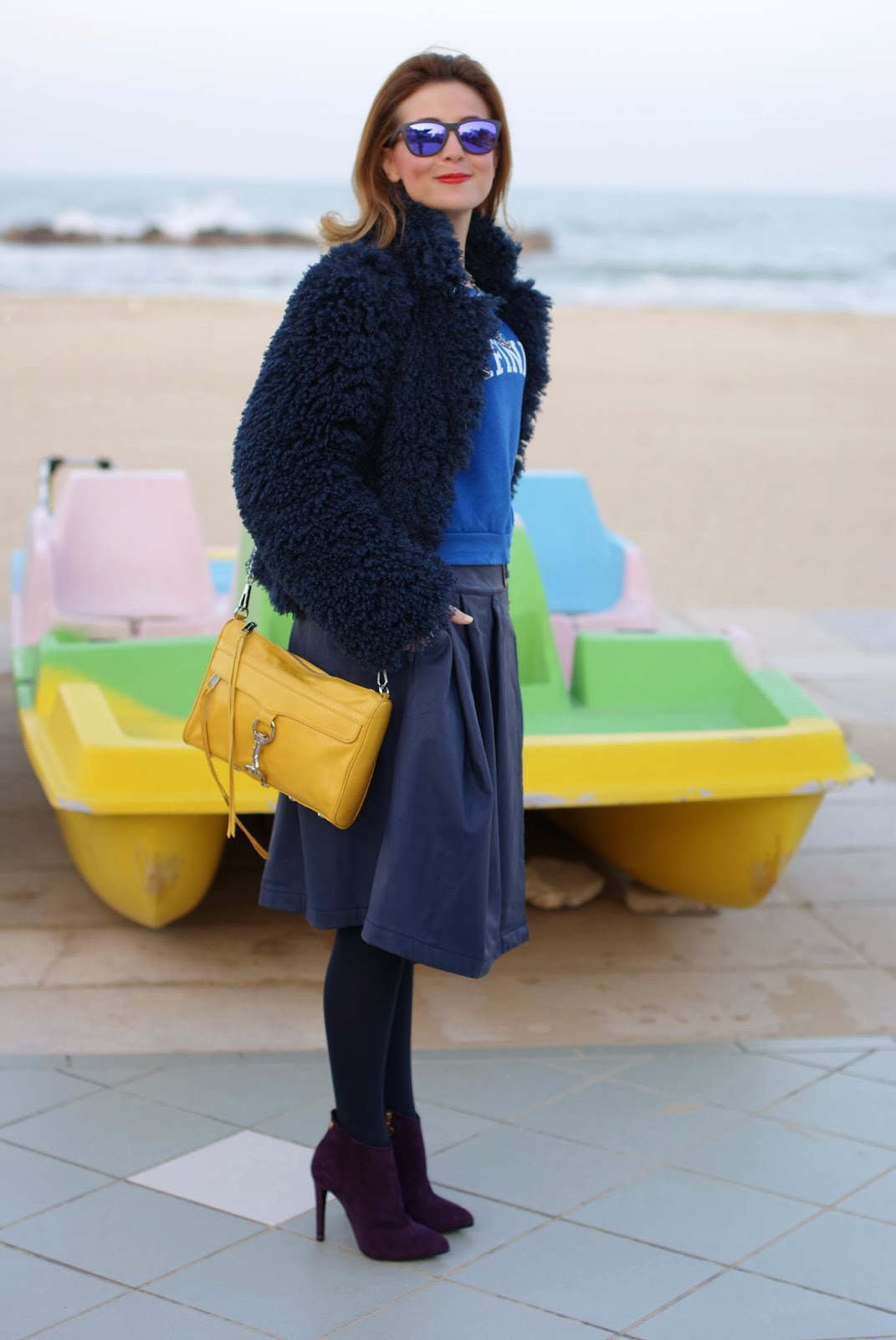 Asos faux leather midi skirt, Fabi shoes, Rebecca Minkoff yellow mac clutch, Fashion and Cookies, fashion blogger