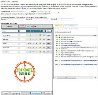 Melihat Posisi Blog Dengan Keywords Target