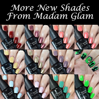 New Madam Glam Gel Polish Swatches