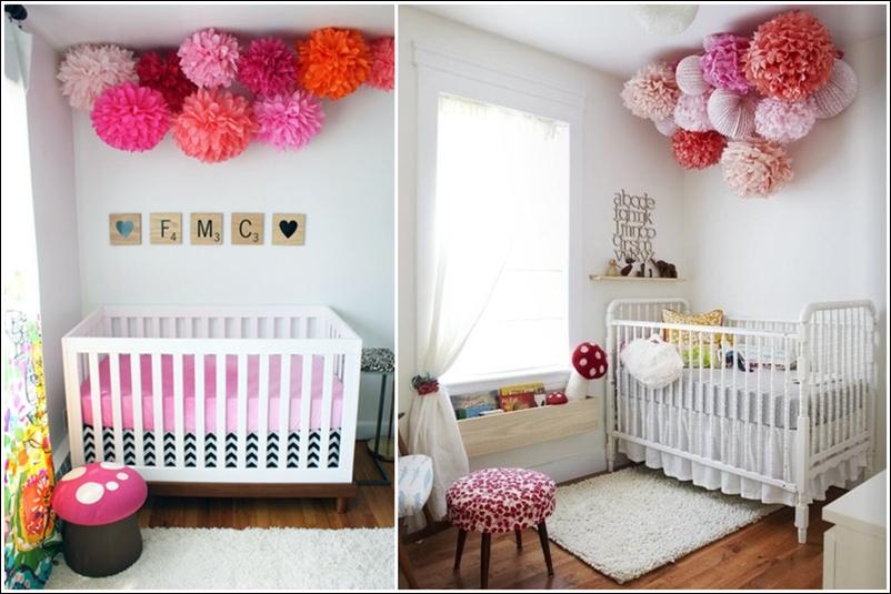 D co chambre bebe pompon - Deco babybed ...