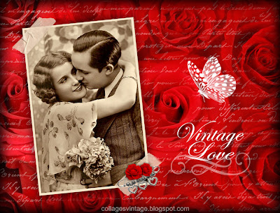 pareja vintage fondo retro