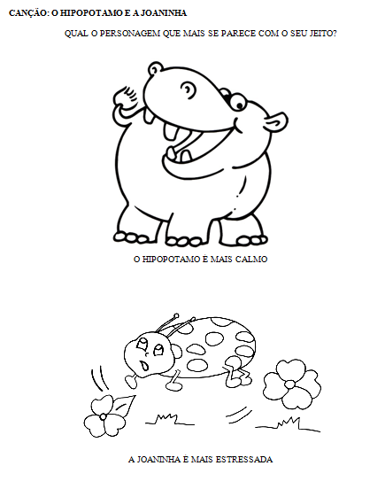 Música faz pensar...: O Hipopótamo e a Joaninha