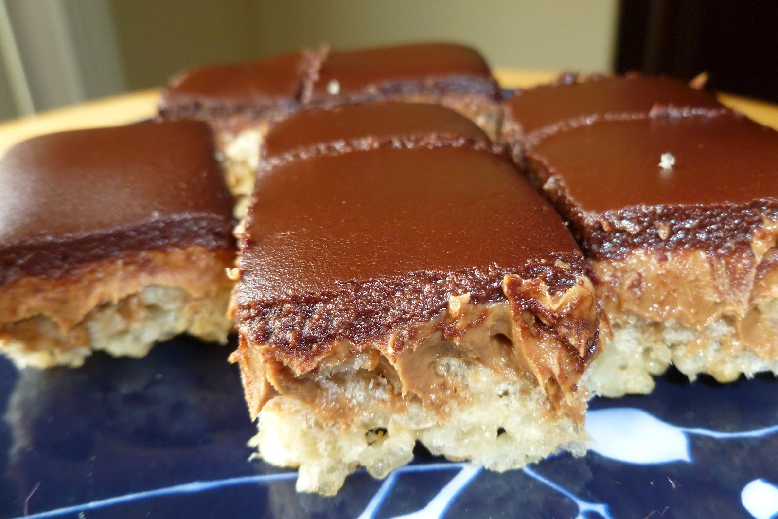 Peanut Butter Crispy Bars - made September 6, 2012 from Baked: New ...