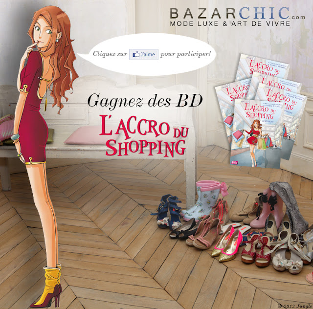 """40 albums BD """"L'Accro du shopping"""""""