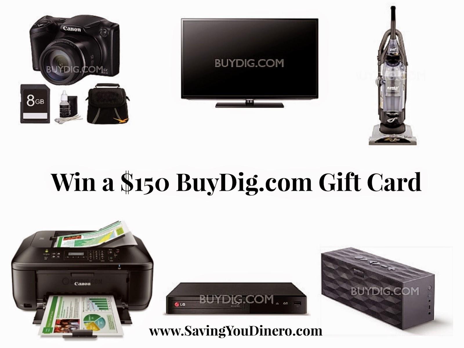 Enter the BuyDig.com Gift Card Giveaway. Ends 2/16
