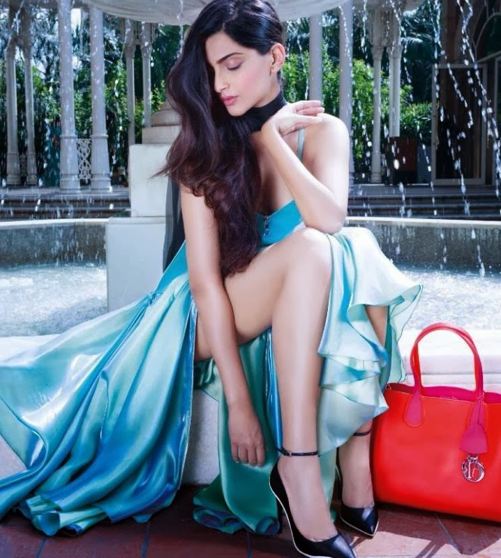 Sonam Kapoor Latest Hot Photoshoot in Saree with Long Hairstyles