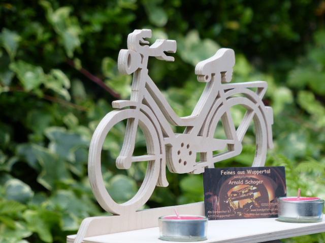 tischdeko f r einen teelichthalter eine fahrrad laubs gevorlage feines aus wuppertal. Black Bedroom Furniture Sets. Home Design Ideas