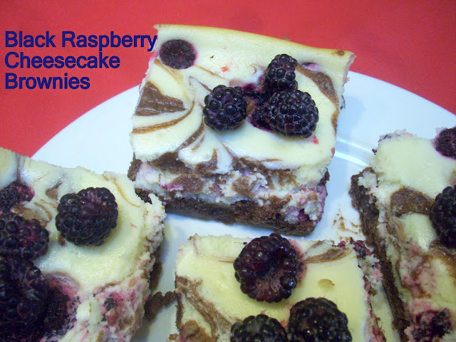 Black Raspberry Cheesecake Brownies