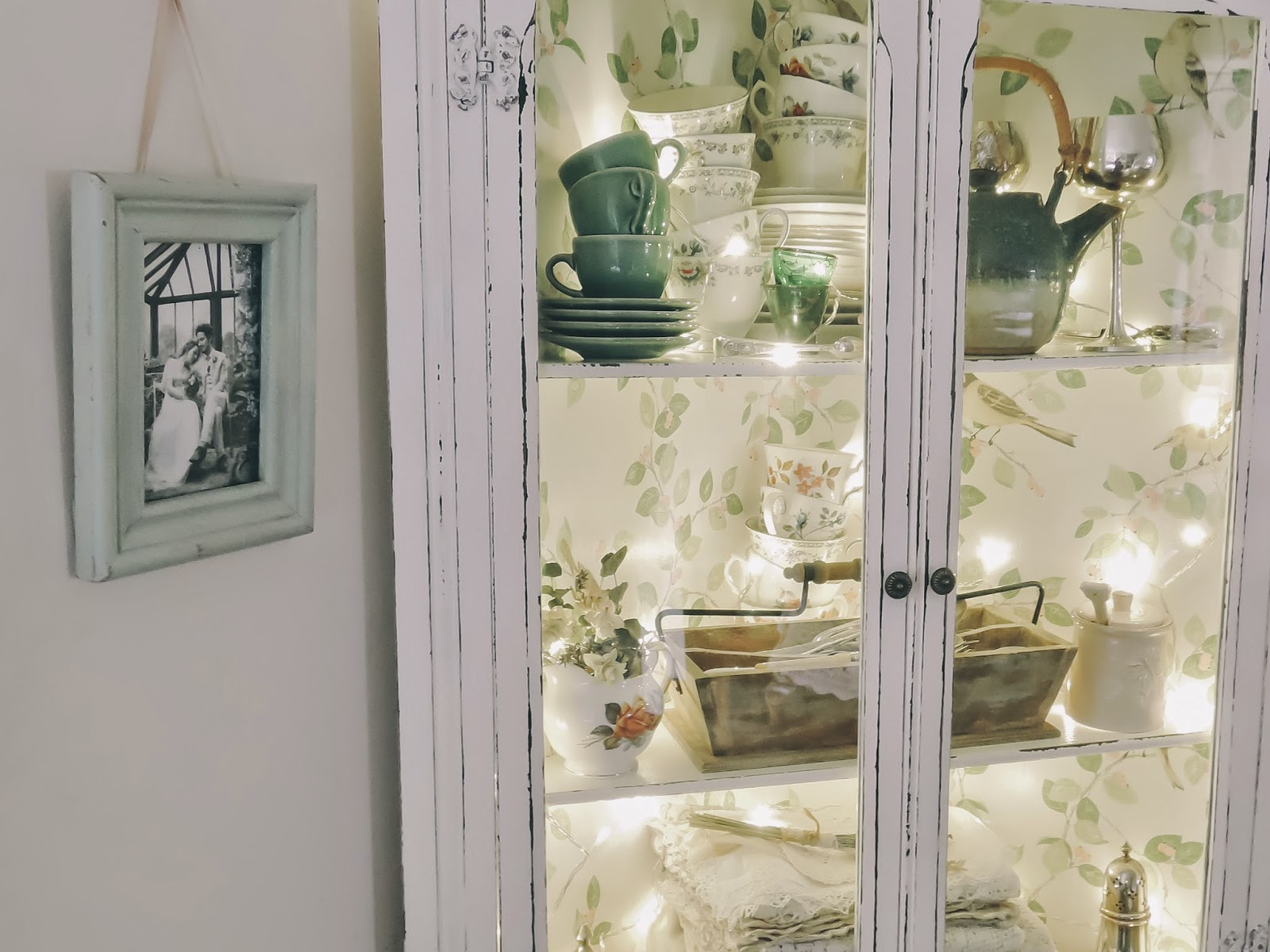 Laura Ashley wallpaper cabinet