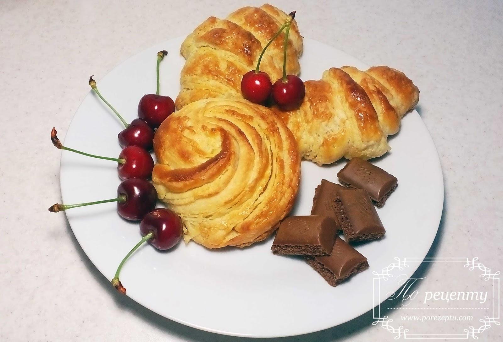 Рецепт круассанов с шоколадом в домашних условиях