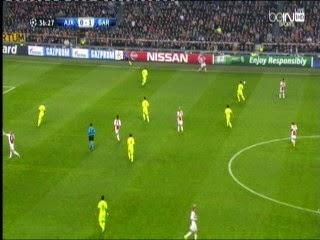 اهداف مبارة برشلونة وأياكس أمستردام  دورى ابطال اوربا 5-11-2014