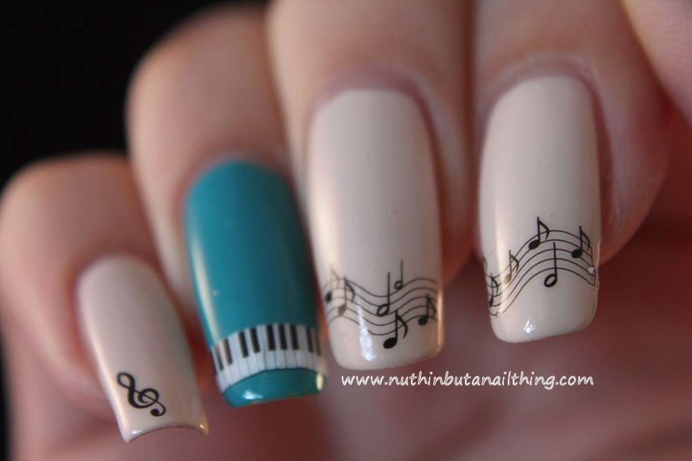nuthin\' but a nail thing: Born Pretty Store Musical Notes Water Decals