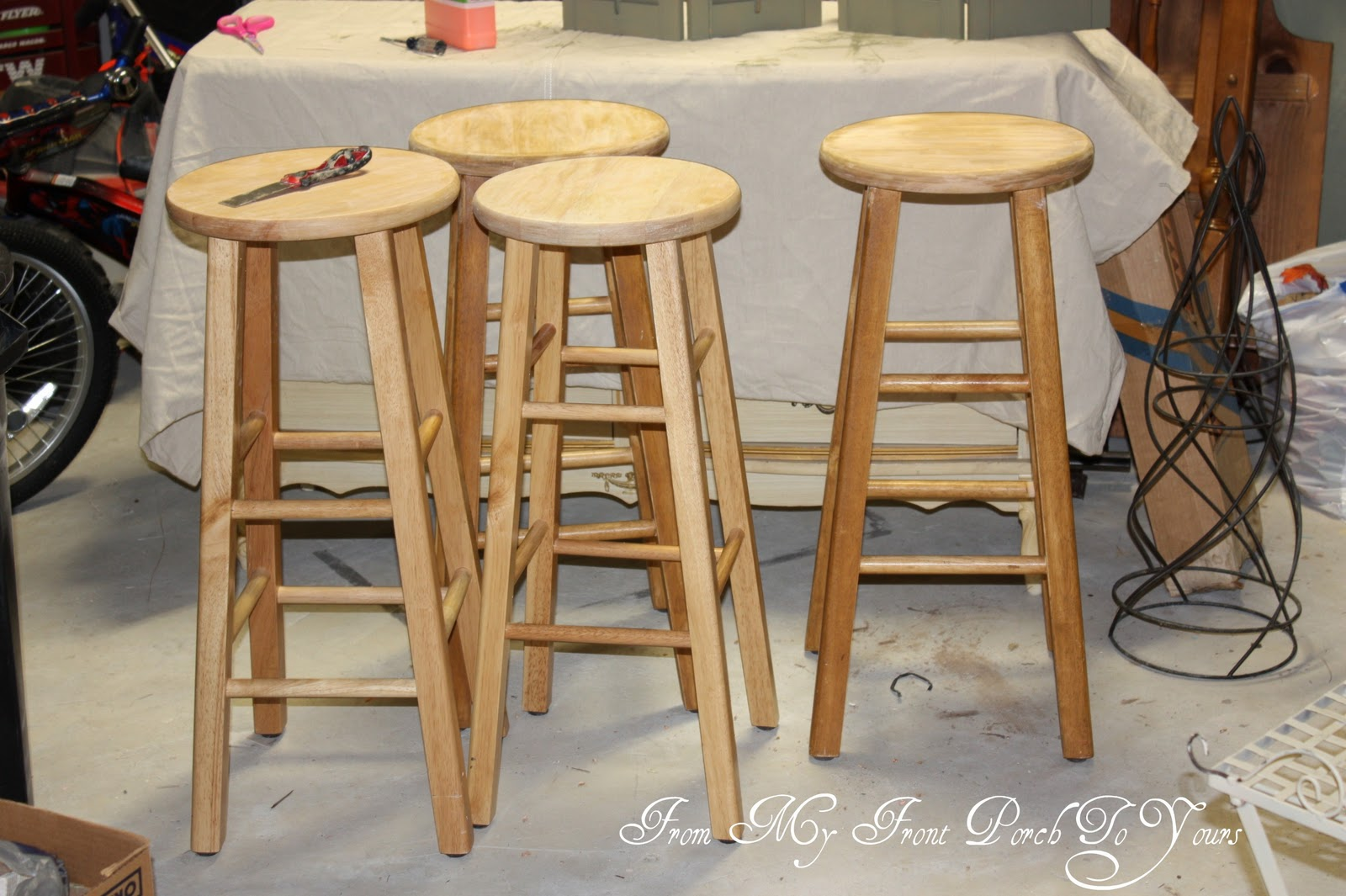 From My Front Porch To Yours New Life To Plain Bar Stools