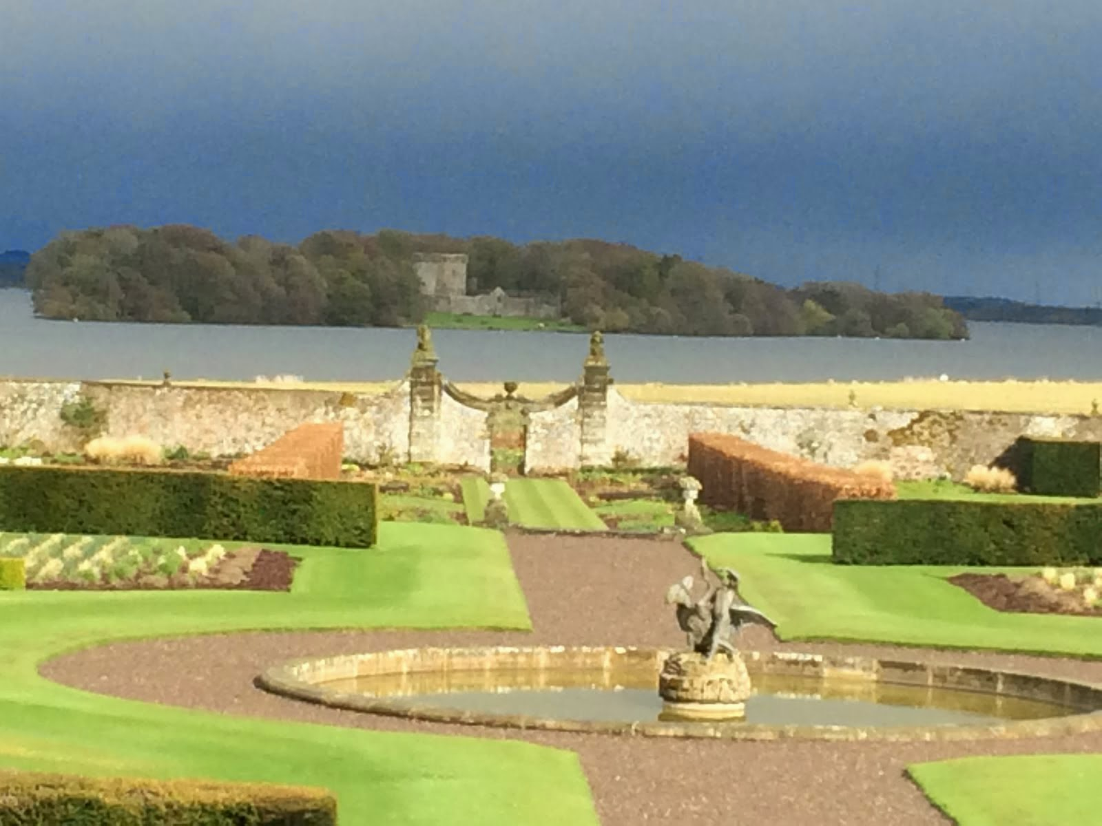 Loch Leven Castle from Kinross House