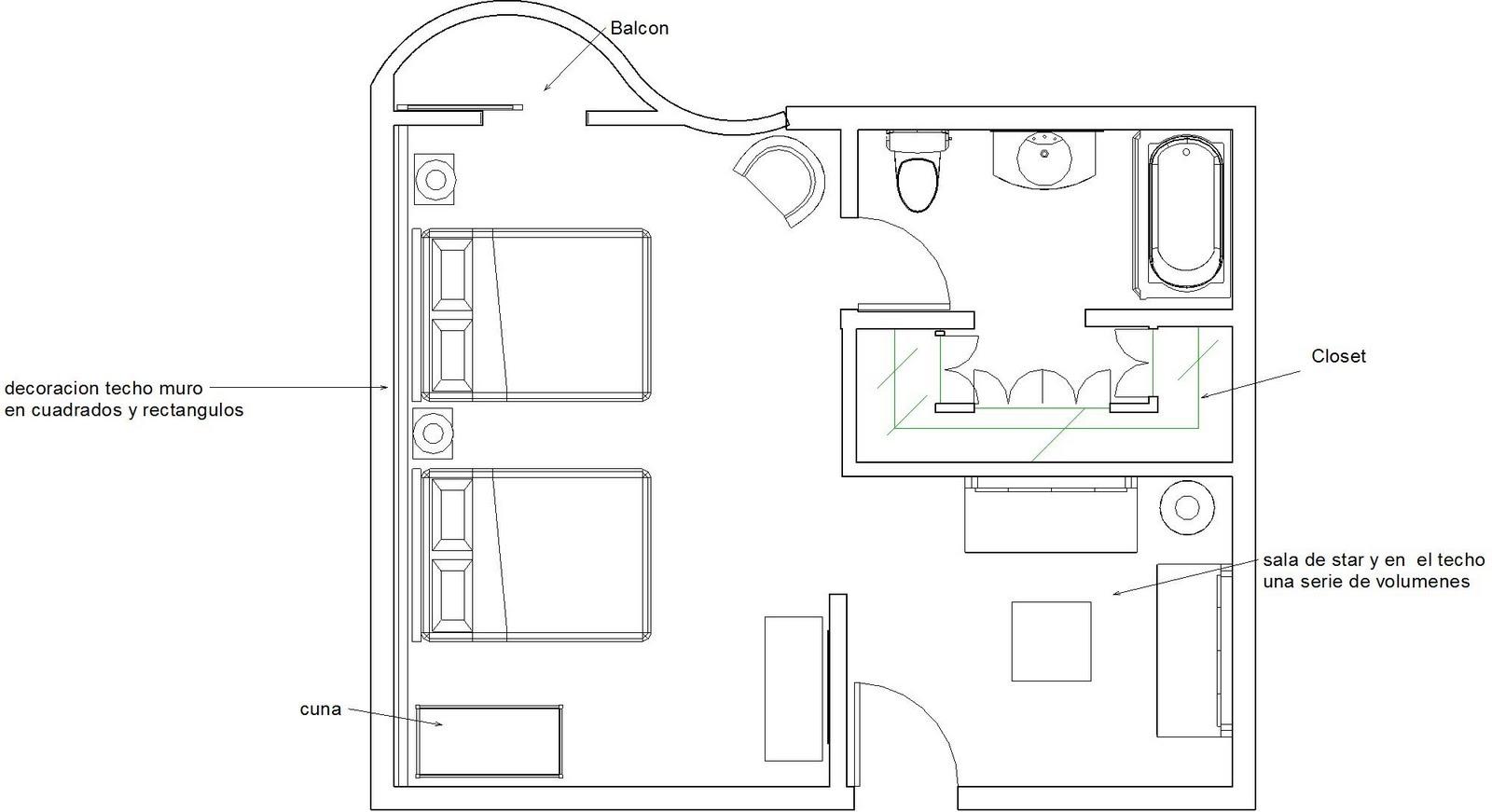 Interiores 3 dise o de interior de una habitacion de - Diseno de una habitacion ...