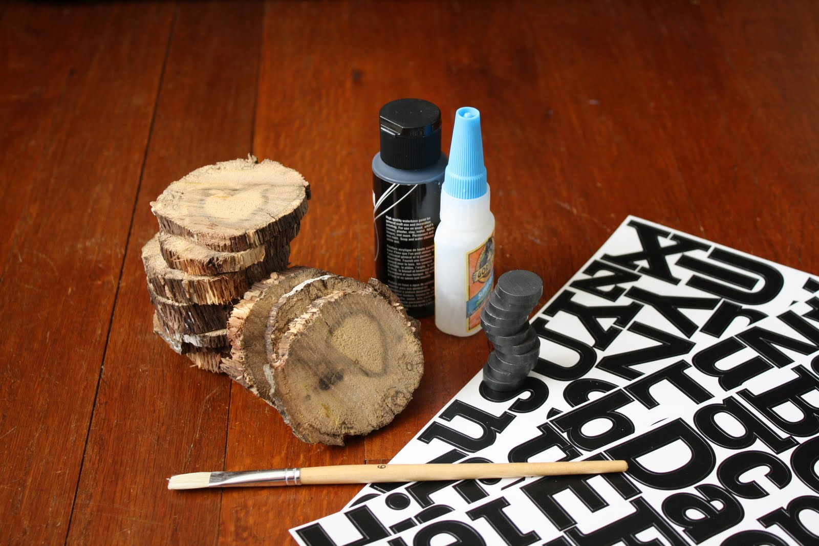 A whimsy willow alphabet wood magnets for Acrylic paint for wood crafts