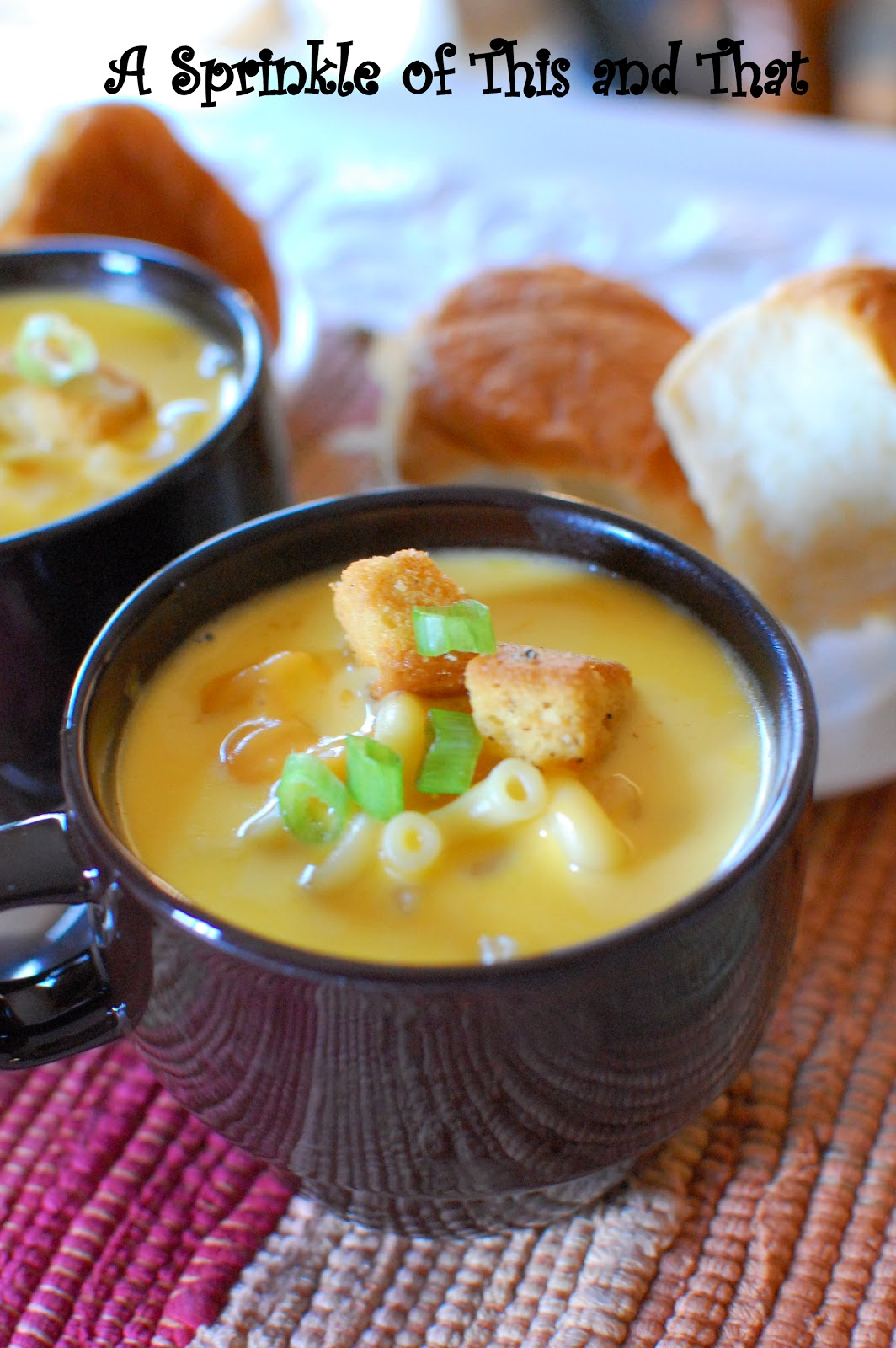 Sprinkle of This and That: Beer Mac n Cheese Soup