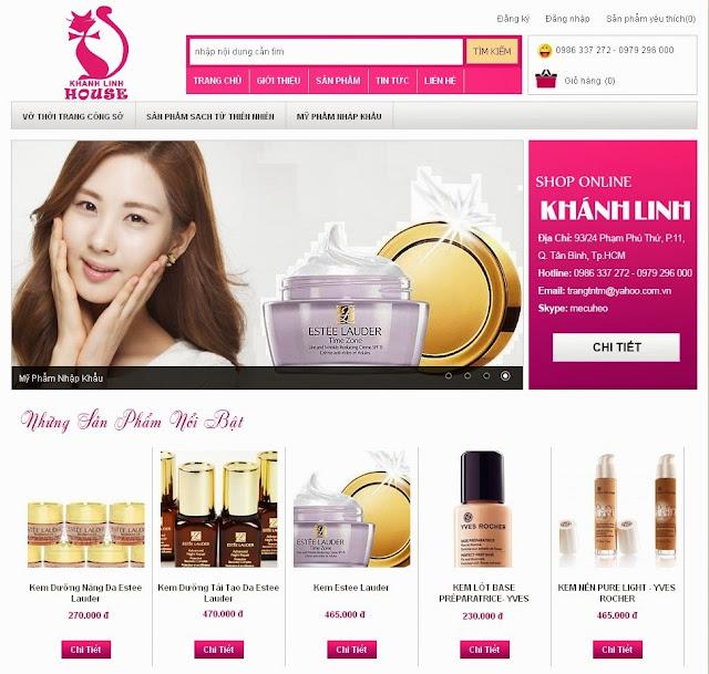 thiết kế website bán hàng đẹp tuyệt vời 3