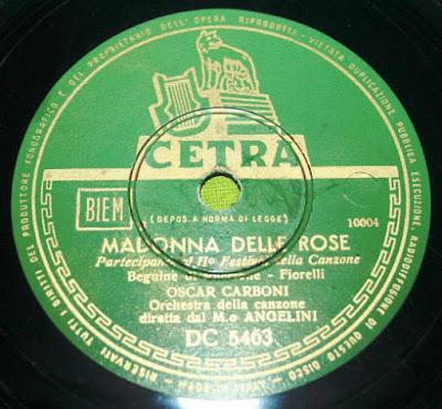 Sanremo 1952 - Oscar Carboni - Madonna delle rose