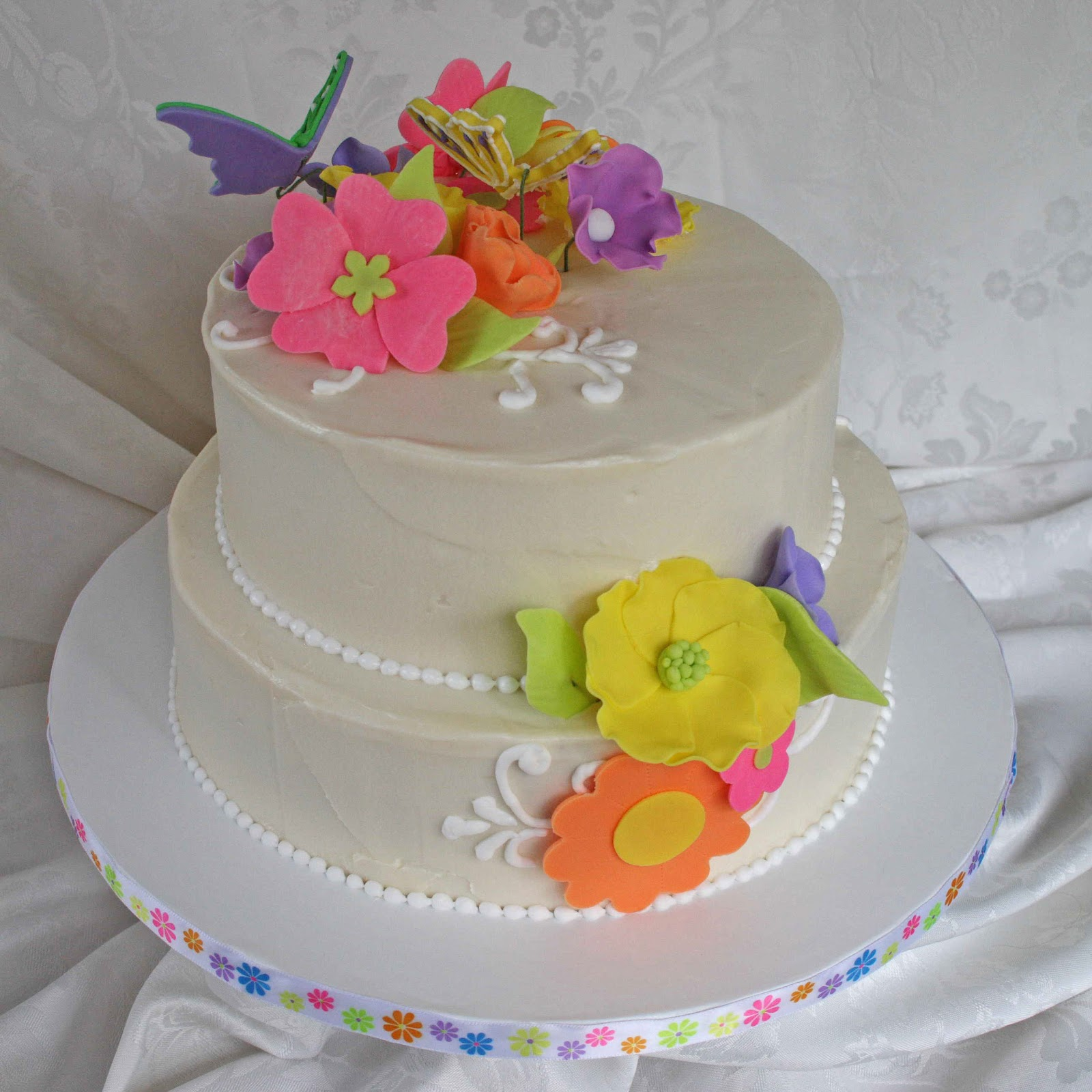 All Kinds Of Sugar: Butterfly And Flower Wedding Cake
