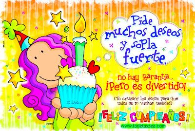 Frases Para Cumpleaños: Pide Muchos Deseos Y Sopla Fuerte