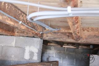 vattenrör dragna under huset varmvattenberedare 55 liter