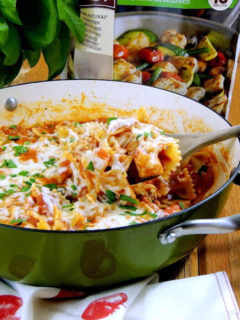 One Pot Cheesy Italian Chicken and Pasta from www.bobbiskozykitchen.com