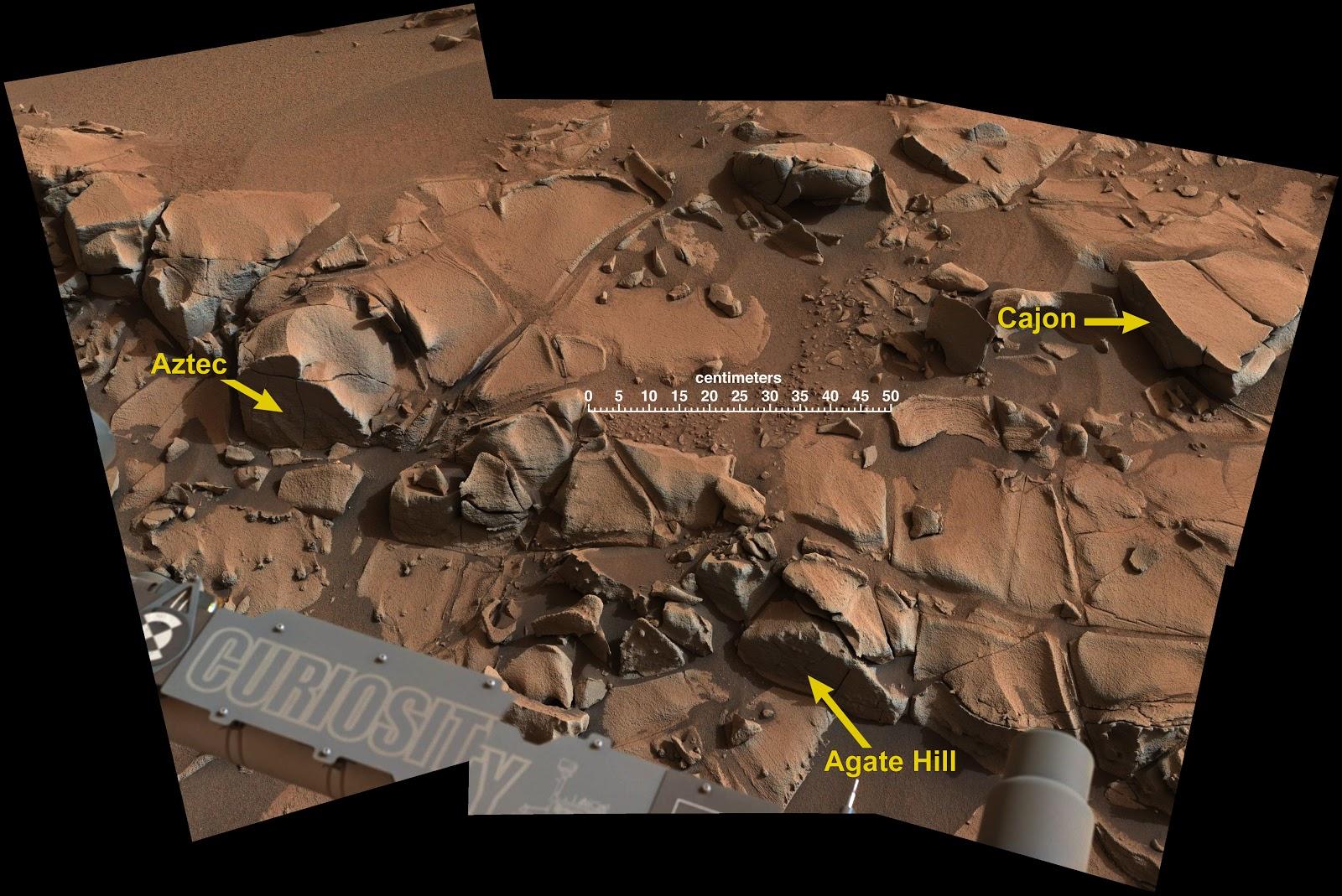 На Марсе обнаружена геологическая особенность Ацтек