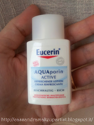 EUCERIN - Aquaporin Active Crema Rinfrescante Rich - inci - recensione - review - prezzo - glossy box luglio 2012