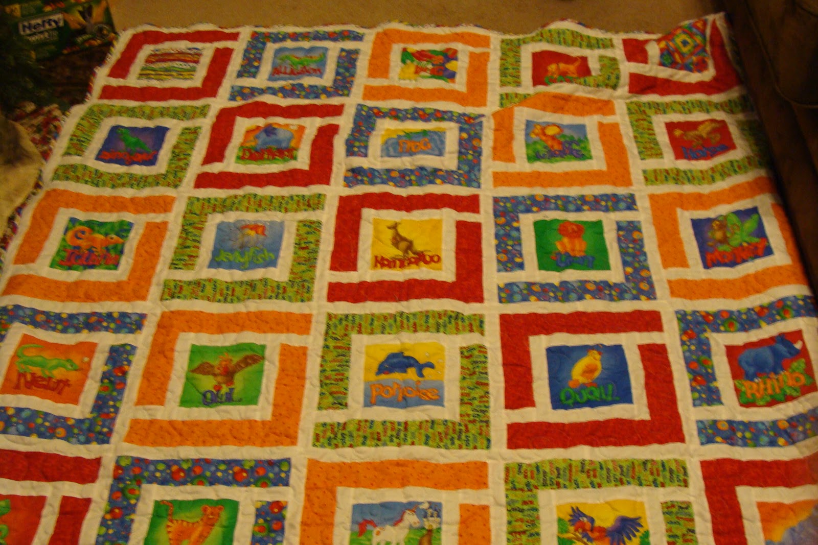 Inch Worm Fabrics: Baby Blanket- Jungle Path Baby Quilt : jungle quilt pattern - Adamdwight.com