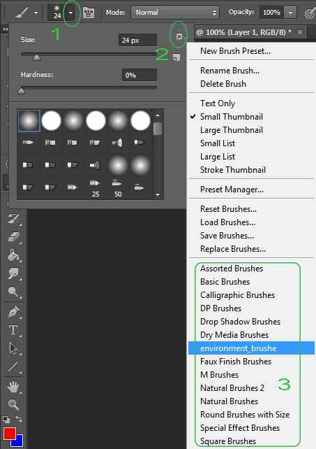 Cara Menambah Brush kedalam program Photoshop