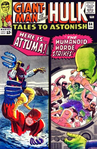 Tales to Astonish #64, Attuma vs Giant Man