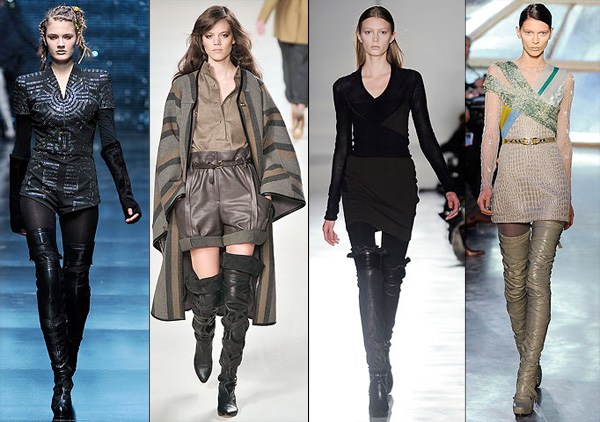 Over The Knee Boots Leather