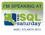 SQLSaturday Atlanta 2013