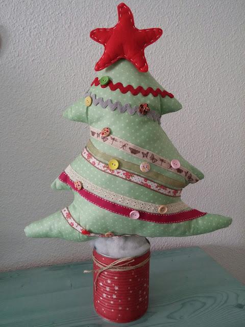 Árbol de Navidad artesanal de tela