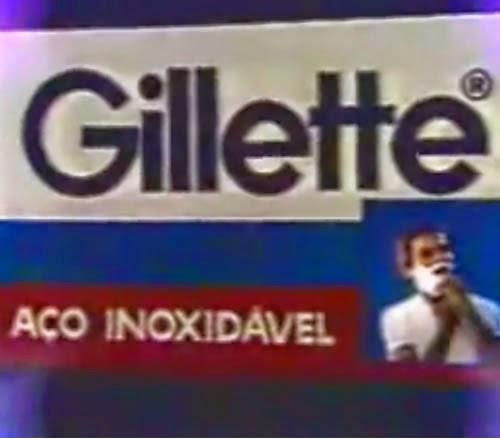 Propaganda de 1980 com o ator Marco José apresentando as lâminas de barbear inoxidáveis da Gillette.