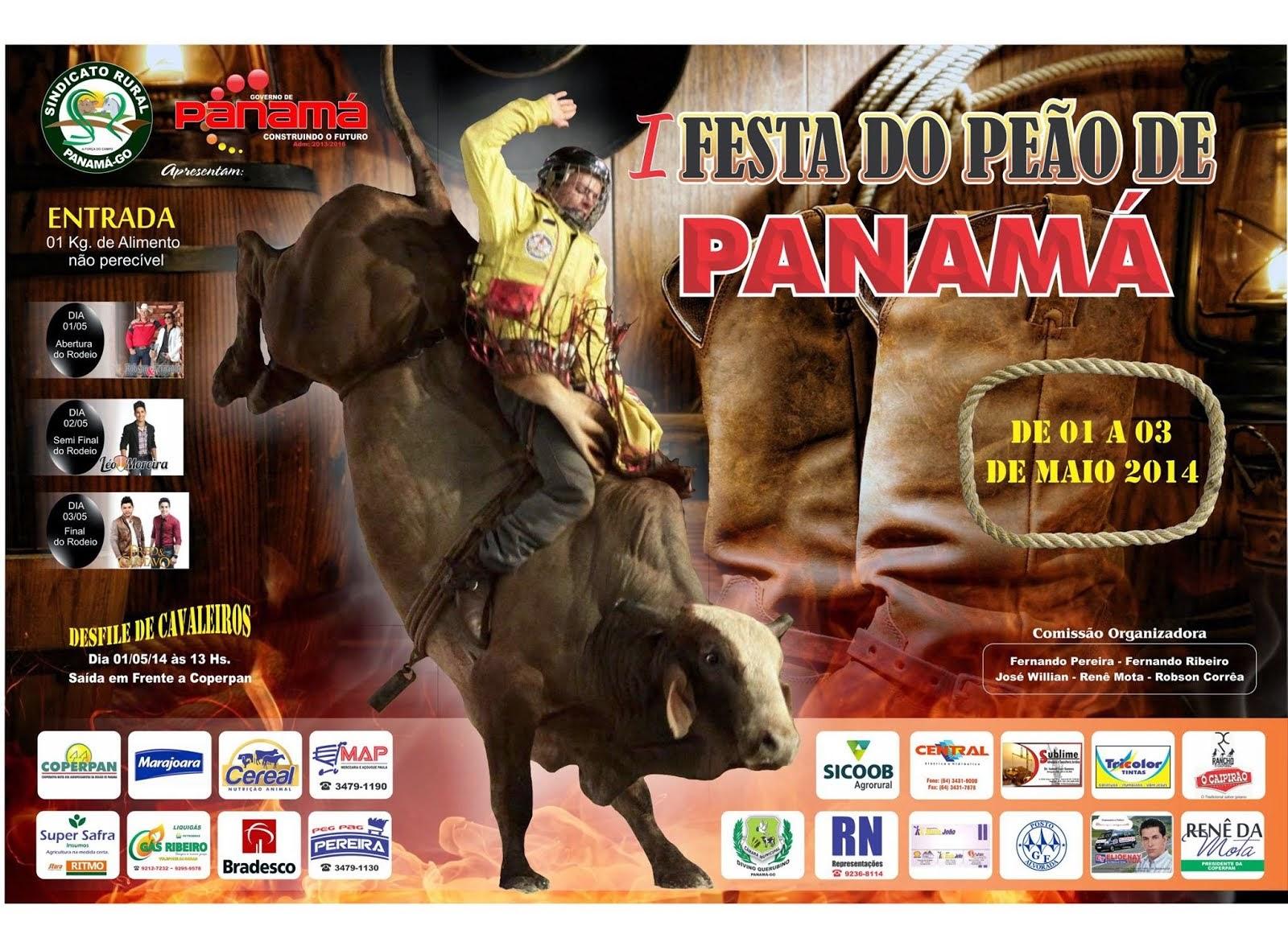 I Festa do Peão de Panamá-GO - De 01 a 03 de Maio de 2014.