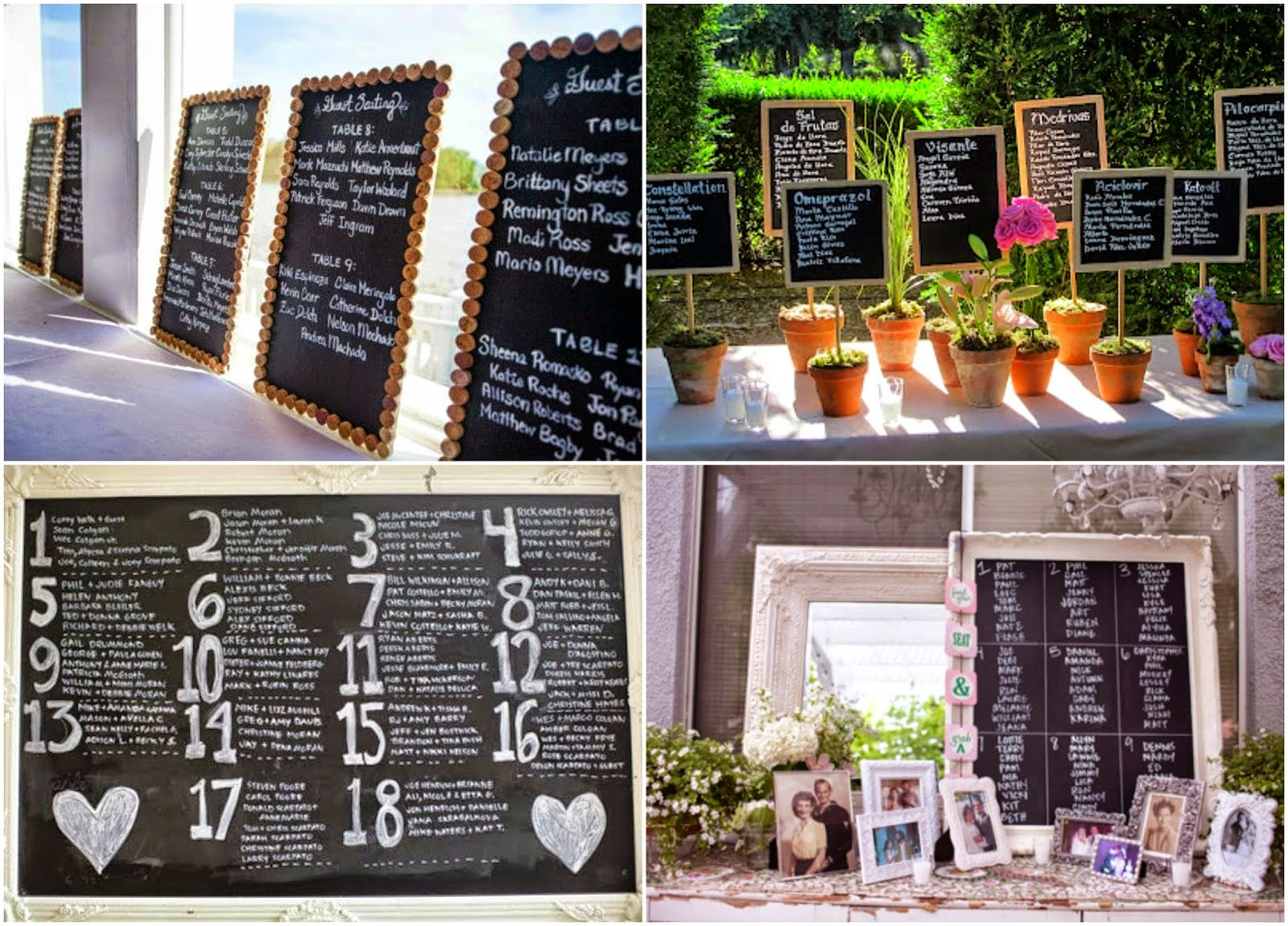 Bodas cucas 5 ideas originales para tu seating plan de boda - Ideas de bodas originales ...