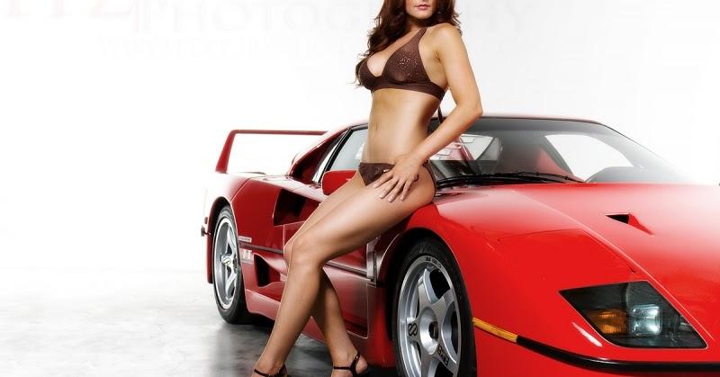 all cars nz ferrari f40 amp sexy girl