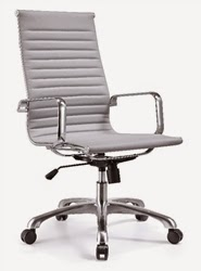 Gray Leather Office Chair