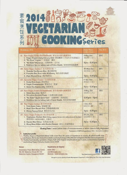 2014 Healthy Living Vegan Culinary Workshops by Vinitha @ Awareness Place