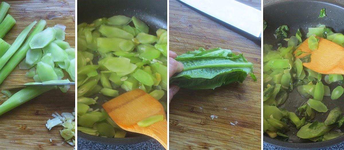 Zubereitung Chinesischer Spargelsalat (Wosun)
